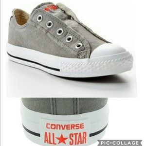 CONVERSE ALL STAR GRAY LACELESS SNEAKERS SIZE 6